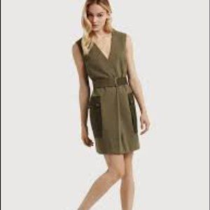 "Kit & Ace ""in the field"" utility dress olive green"
